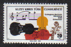 North Cyprus Stamps SG 165 1984 Visit of the Nurnburg Chamber Orchestra - M