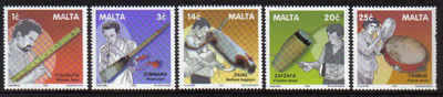 MALTA STAMPS SG 1230-34 2001 Traditional Maltese musical instruments - mint