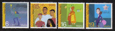 MALTA STAMPS SG 1239-42 2001 Christmas - mint