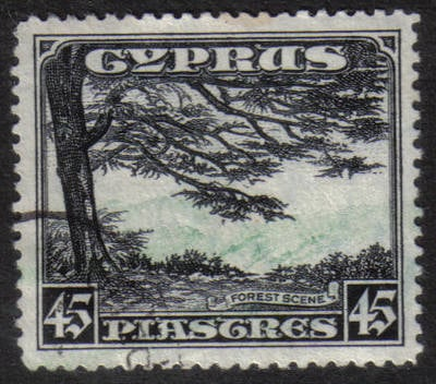 Cyprus Stamps SG 143 1934 KGV Definitives 45 Piastres - USED (H505)