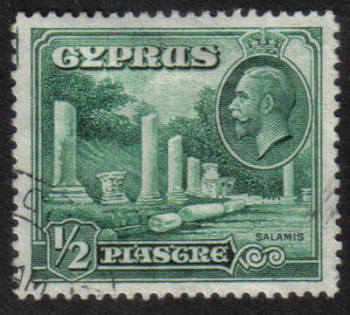 Cyprus Stamps SG 134 1934  1/2 Piastre - USED (h511)