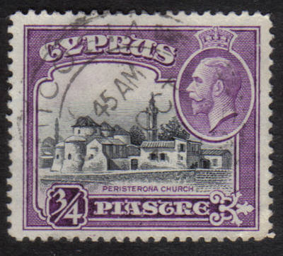 Cyprus Stamps SG 135 1934  3/4 Piastre - USED (h513)