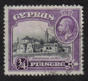 Cyprus Stamps SG 135 1934 3/4 Piastre - USED (h512)