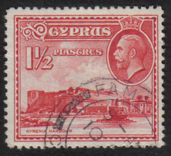 Cyprus Stamps SG 137 1934 1 1/2 Piastres - USED (h510)