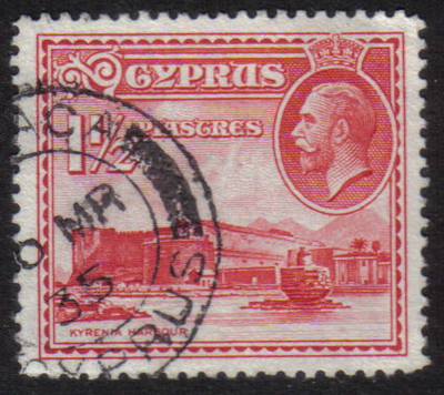 Cyprus Stamps SG 137 1934 1 1/2 Piastres - USED (h509)