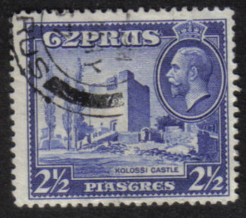 Cyprus Stamps SG 138 1934 2 1/2 Piastres - USED (h508)