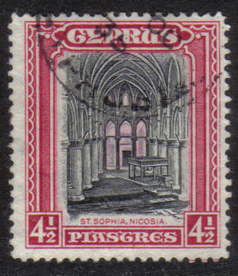 Cyprus Stamps SG 139 1934 4 1/2 Piastres - USED (h504)