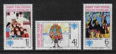 North Cyprus Stamps SG 085-87 1979 International year of the child  - MINT