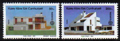 North Cyprus Stamps SG 210-11 1987 Europa Modern architecture - MINT