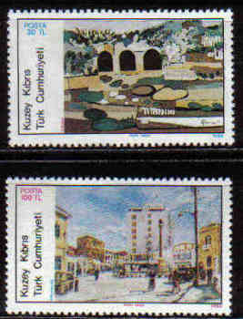 North Cyprus Stamps SG 185-86 1986 Art 5th Series - MINT