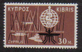 CYPRUS STAMPS SG 210 1962 30 MILS - MINT