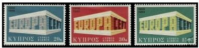 Cyprus stamps SG 345-47 1970 EUROPA Emblem