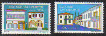 North Cyprus Stamps SG 358-59 1993 Arabahmet district conservation project - Mint