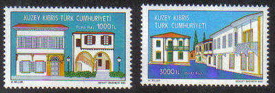 North Cyprus Stamps SG 358-59 1993 Arabahmet district conservation project