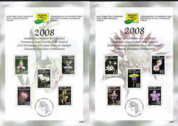 North Cyprus Stamps Leaflet 230 - 2008 Orchids wild flowers