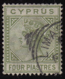 Cyprus Stamps SG 035a 1892 Four piastre - USED (h516)