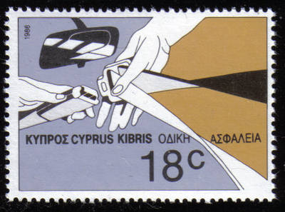 Cyprus Stamps SG 691 1986 18 cents Road safety - MINT