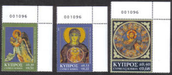 Cyprus Stamps SG 1153-55 2007 Christmas - Control numbers MINT