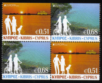 Cyprus Stamps SG 1275a-76a 2012 Europa Visit Cyprus - Booklet Pane MINT