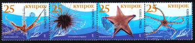 Cyprus Stamps SG 1123-26 2007 Echinodermata of Cyprus - MINT