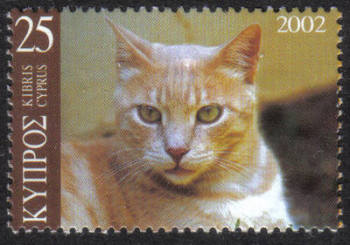 Cyprus Stamps SG 1028 2002 Cat Red and Silver Tabby 25c - MINT