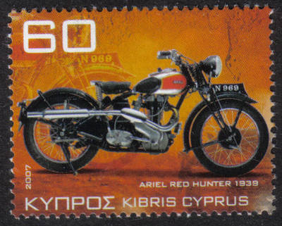 Cyprus Stamps SG 1131 2007 60c Motorcycles Ariel Red Hunter NH 359 1939 - M