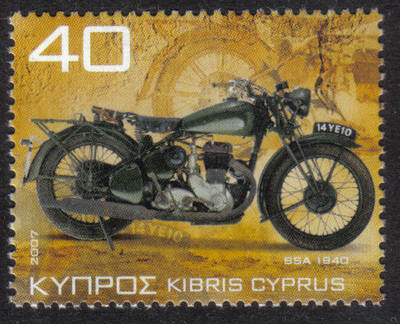 Cyprus Stamps SG 1130 2007 40c Motorcycles BSA WM20 1940 - MINT