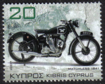 Cyprus Stamps SG 1129 2007 20c Motorcycles Matchless G3L 1941 - MINT