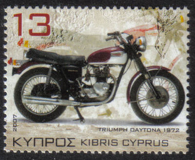 Cyprus Stamps SG 1128 2007 13c Motorcycles Triumph Daytona T100R - MINT