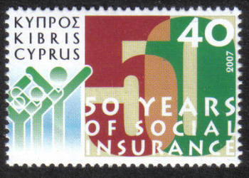 Cyprus Stamps SG 1136 2007 40c 50 Years of Social Insurance - MINT