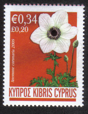 Cyprus Stamps SG 1159 2008 White Anemone 34c - MINT