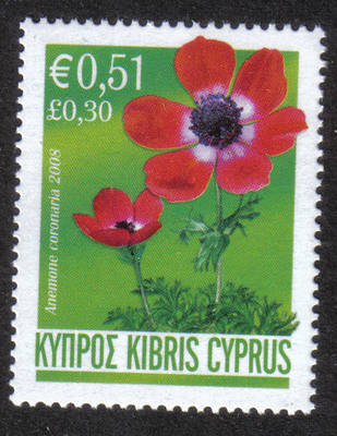 Cyprus Stamps SG 1160 2008 Red Anemone 51c - MINT