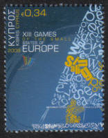 Cyprus Stamps SG 1191 2009 34c XIII Games of the Small States of Europe - MINT