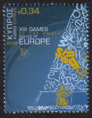 Cyprus Stamps SG 1191 2009 34c XIII Games of the Small States of Europe - M