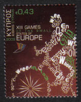 Cyprus Stamps SG 1192 2009 43c XIII Games of the Small States of Europe - MINT