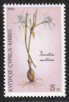 Cyprus Stamps SG 786 1990 3 cent Pancratium maritimum - MINT