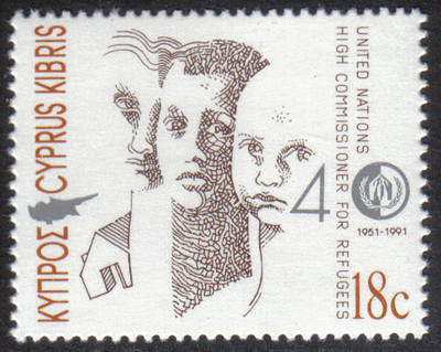 Cyprus Stamps SG 806 1991 19c United Nations Commissioner for Refugees - MI