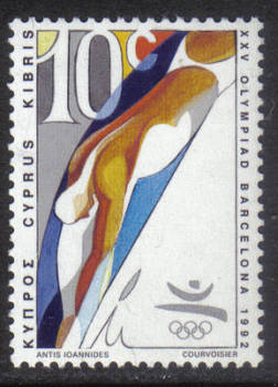 Cyprus Stamps SG 811 1992 10c Barcelona Olympic Games - MINT