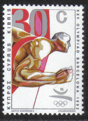 Cyprus Stamps SG 813 1992 30c Barcelona Olympic Games - MINT