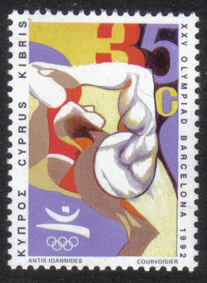 Cyprus Stamps SG 814 1992 35c Barcelona Olympic Games - MINT