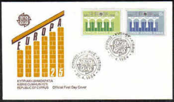 Cyprus Stamps SG 632-33 1984 Europa Bridge FDC (a164)