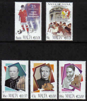 MALTA STAMPS SG 1577-81 2007 Anniversaries and Personalities - mint