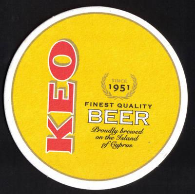 Cyprus Beermats Keo Brewery lager 2013 - UNUSED (z194a)