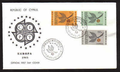 Cyprus Stamps SG 267-69 1965 Europa Sprig - Official FDC