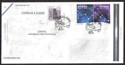 Cyprus Stamps SG 1188-89 2009 Europa Astronomy - Cachet Unofficial FDC (a80