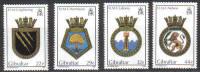 Gibraltar Stamps SG 0541-44 1986 Naval Crests - MINT