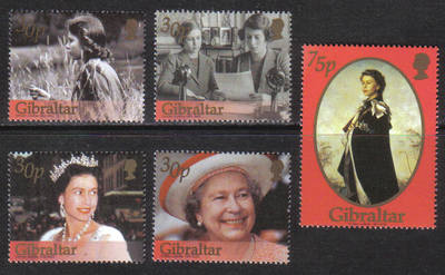 Gibraltar Stamps SG 0996-999 2002 Golden Jubilee - MINT