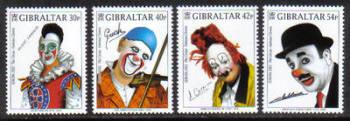 Gibraltar Stamps SG 1002-05 2002 Europa Circus Clowns - MINT