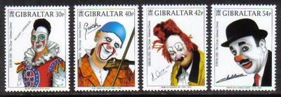 Gibraltar Stamps SG 1002-05 2002 Europa Circus Clowns - MINT