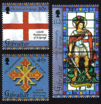 Gibraltar Stamps SG 1052-54 2003 Death anniversary of St George - MINT
